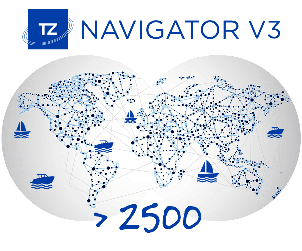 more than 2500 tz navigator users