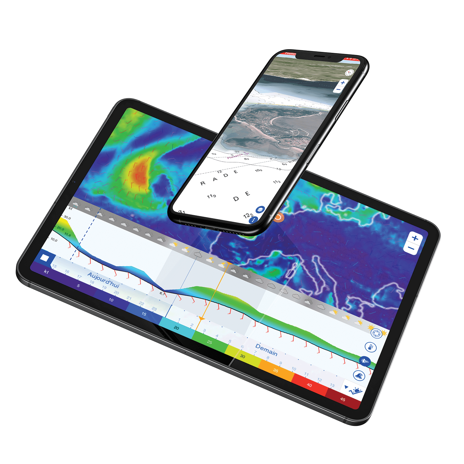 TZ iBoat marine navigation App and Weather Premium Service